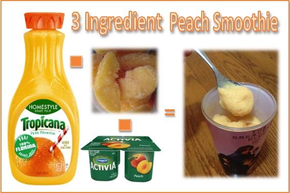 Peach smoothie for Moms
